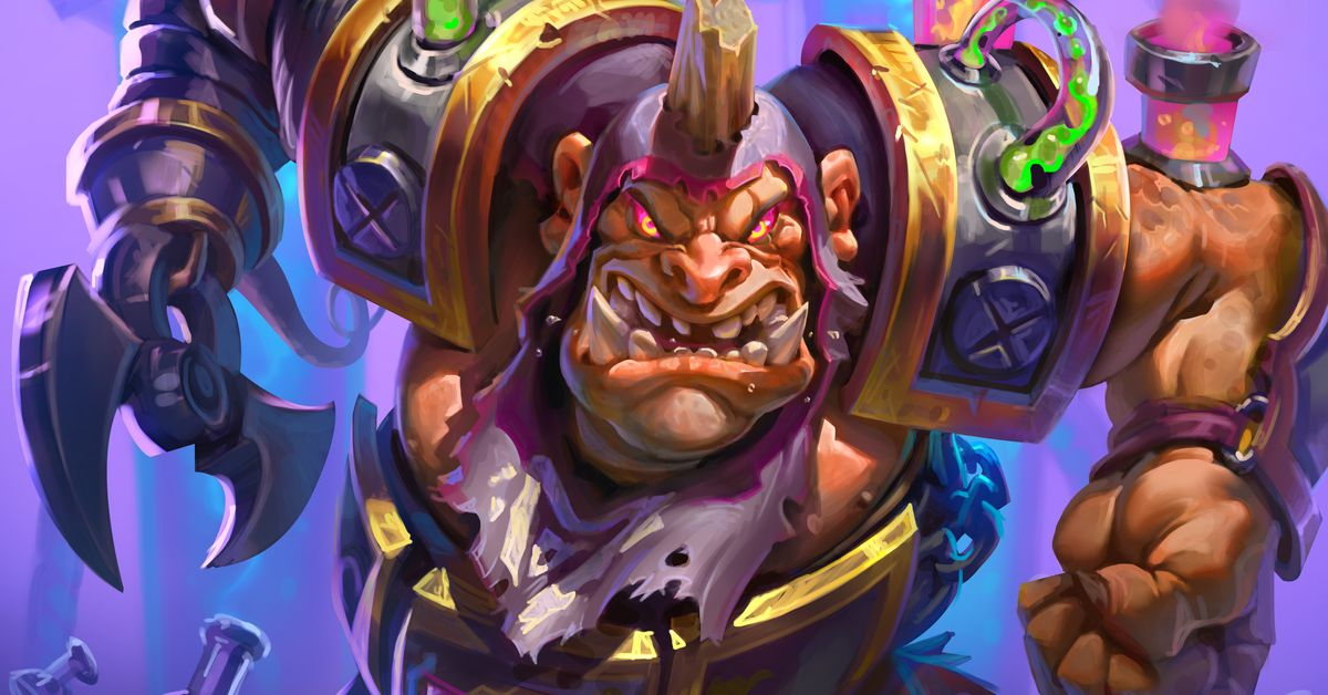 We reveal Hearthstone's legendary muscle minion in Rise of Shadows