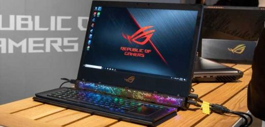 The Asus ROG Mothership is an Overpowered Gaming Laptop with a Kickstand