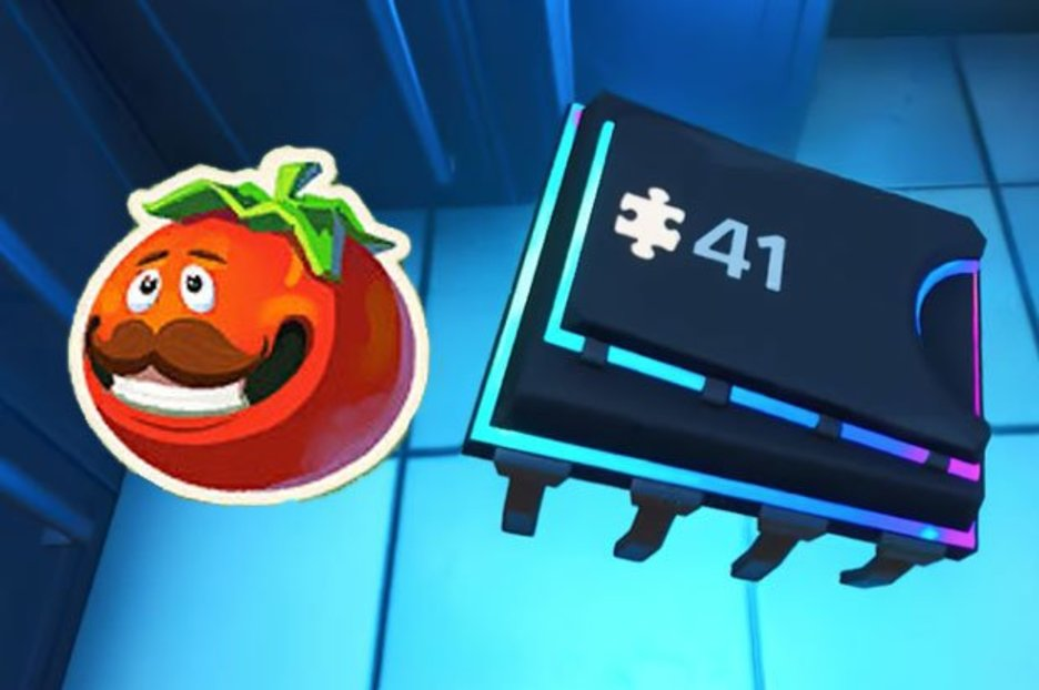 Fortnite Fortbyte 41 Accessible By Using Tomatohead Emoticon Inside DurrrBurger Location