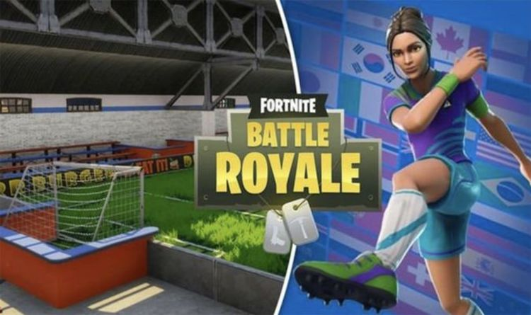 Fortnite indoor soccer pitch: Score a goal Overtime challenge map location revealed