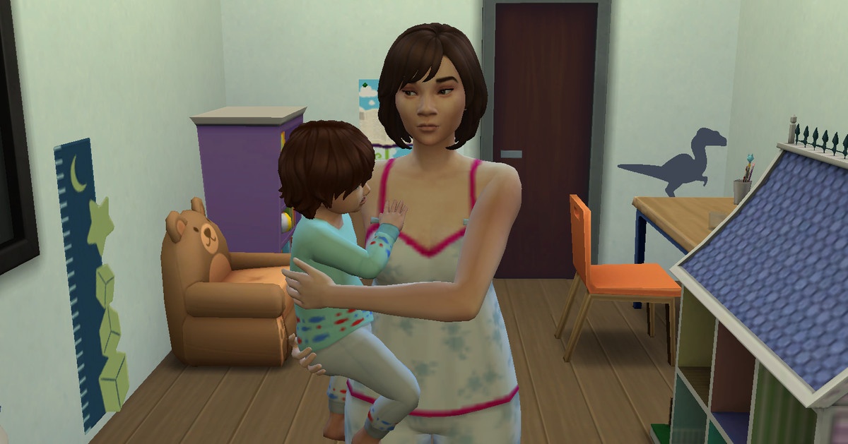 The secret to raising twins in The Sims 4 is ungodly amounts of screentime