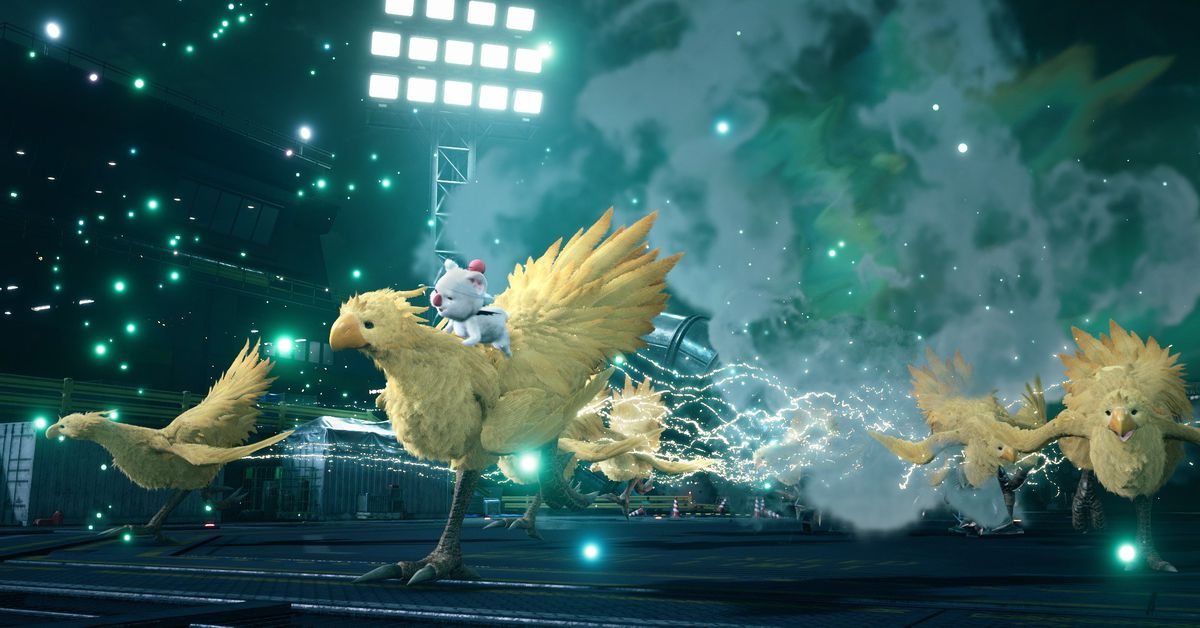 Look at the new fluffy chocobos and moogles in Final Fantasy 7 Remake
