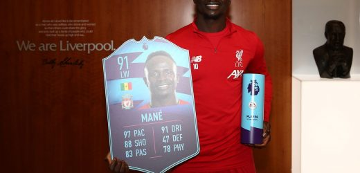 Liverpool's Sadio Mane wins FIFA 20 Premier League POTM November award