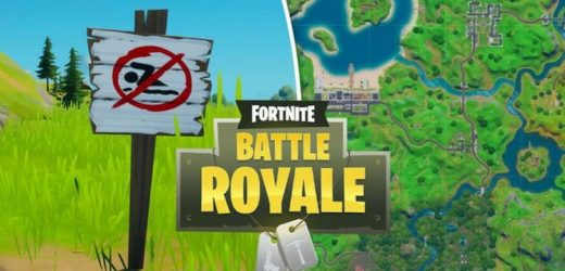 Fortnite swim at no swimming signs 8-Ball vs Scratch challenge map locations REVEALED