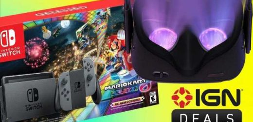 Daily Deals: Nintendo Switch with Mario Kart 8 Deluxe Bundle, Oculus Quest VR Headset with Free Vader Immortal Back in Stock
