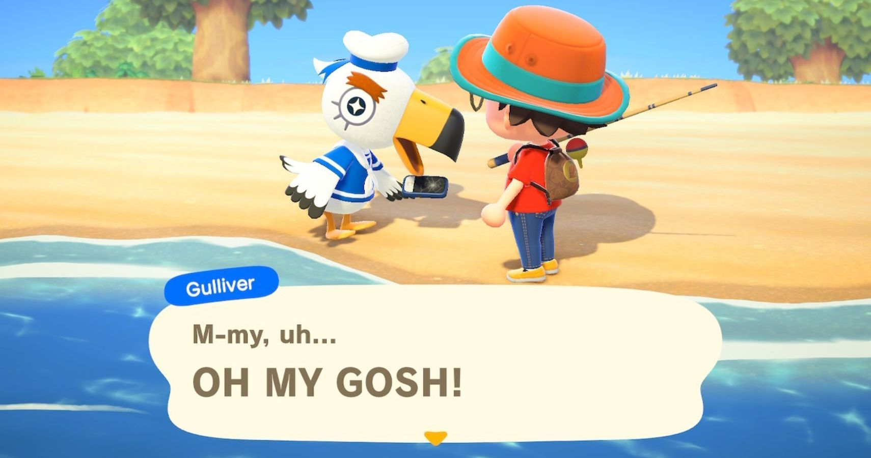 Animal Crossing: New Horizons – Where To Find The Salty Seagull, Gulliver