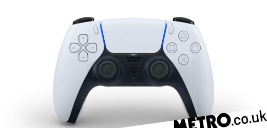 PS5 controller DualSense gamepad revealed with haptic feedback, built-in mic