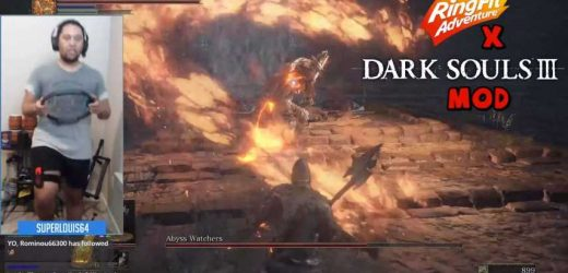 Redditor Gets Exercise Playing Dark Souls By Adapting Ring Fit Adventure