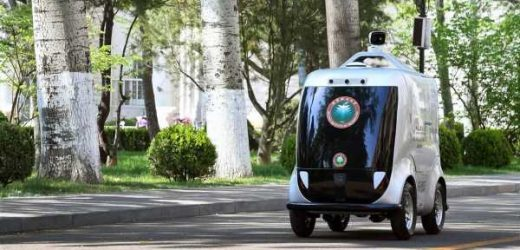Robotic 5G car can ID faces, check for fevers, and make deliveries
