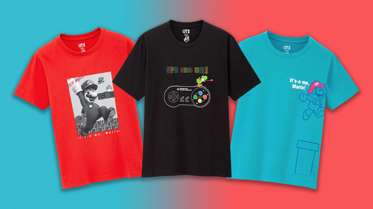 The New Super Mario T-Shirt Collection Is Cool And Affordable