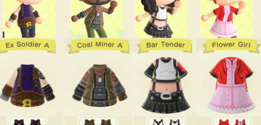 Animal Crossing: New Horizons–Try These Player-Created Final Fantasy 7 Remake Outfits