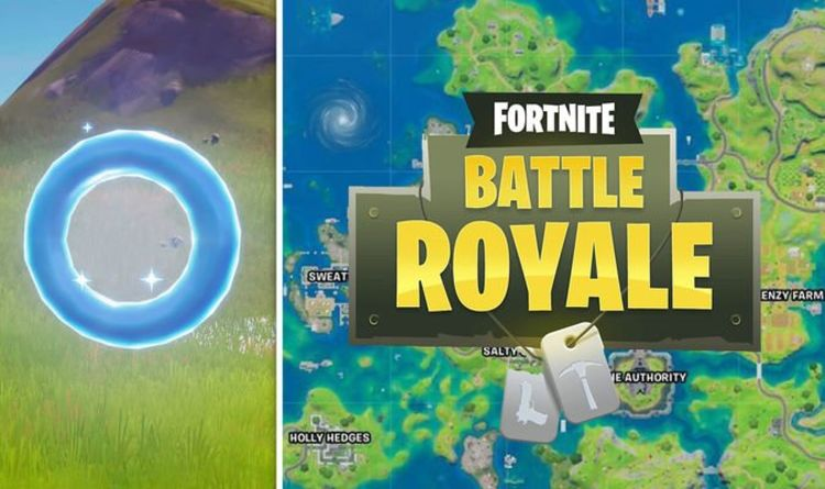 Fortnite Floating Rings at Pleasant Park map locations for Week 4 challenge
