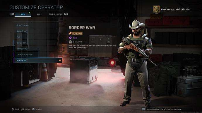 """Controversial """"Border War"""" Skin Gets New Name In Call Of Duty: Modern Warfare And Warzone"""