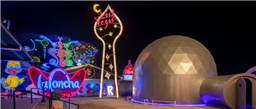 The Neon Museum's 'Lost Vegas' Exhibit by Tim Burton Used VR to Visualise the Expansive Setup