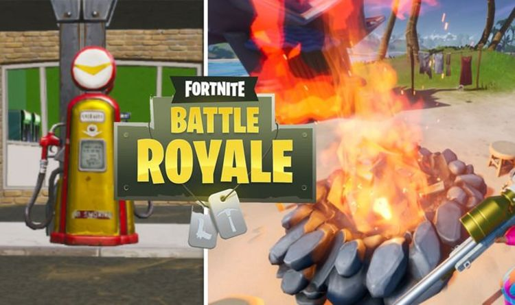Fortnite Gas up at Catty Corner, Stoke Campfires at Camp Cod and ALL Week 9 challenges