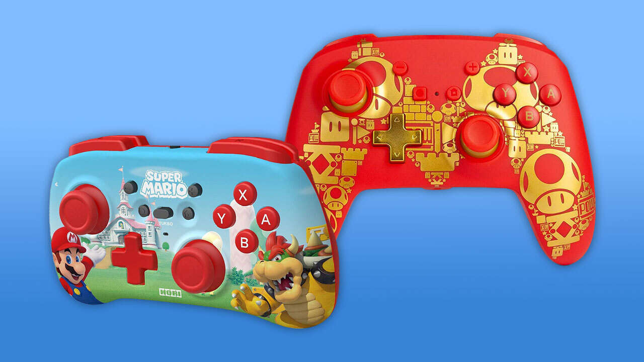 Check Out These New Mario Switch Controllers