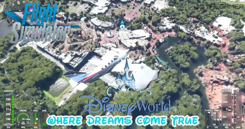 Gaming Detail: You Can Fly Over A Virtual Walt Disney World in Microsoft Flight Simulator