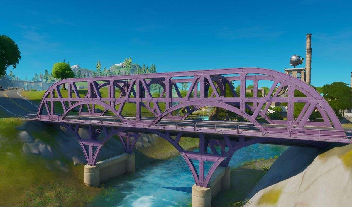 Fortnite: Where To Ride Motorboat Under Different Colored Steel Bridges (Week 2)
