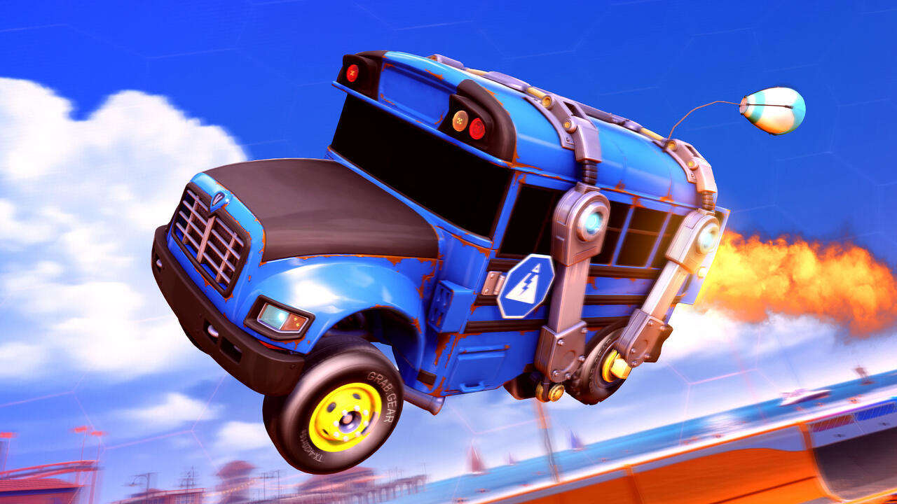 Rocket League Llama-Rama Event Adds Fortnite-Style Challenges, Battle Bus Vehicle