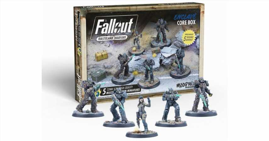 Enclave Minis Invade Modiphius With Eight Fallout: Wasteland Warfare Sets