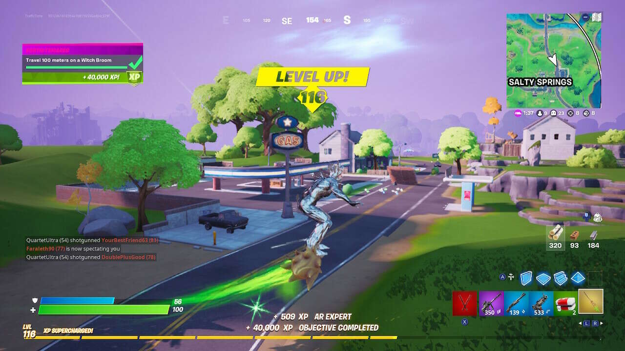 Fortnite Witch's Broom Guide: How To Travel 100 Meters
