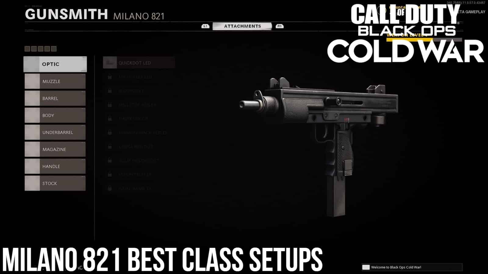 CoD BOCW: Best Class Setups for the Milano 821
