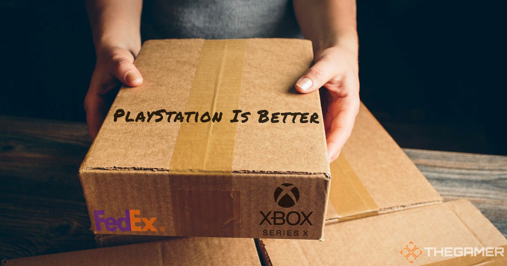 """FedEx Driver Writes """"PlayStation Is Better"""" On Xbox Delivery"""