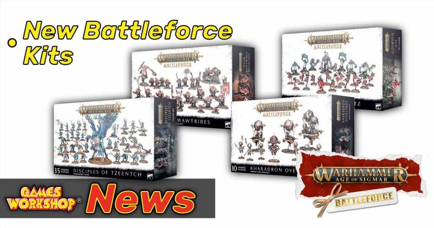 Jump Start Your Warhammer Age of Sigmar Armies With The New Faction Battleforce Kits