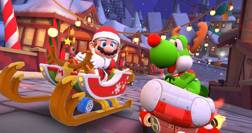 Mario Kart Tour Teases Upcoming Winter Tour With New Merry Mountain Course