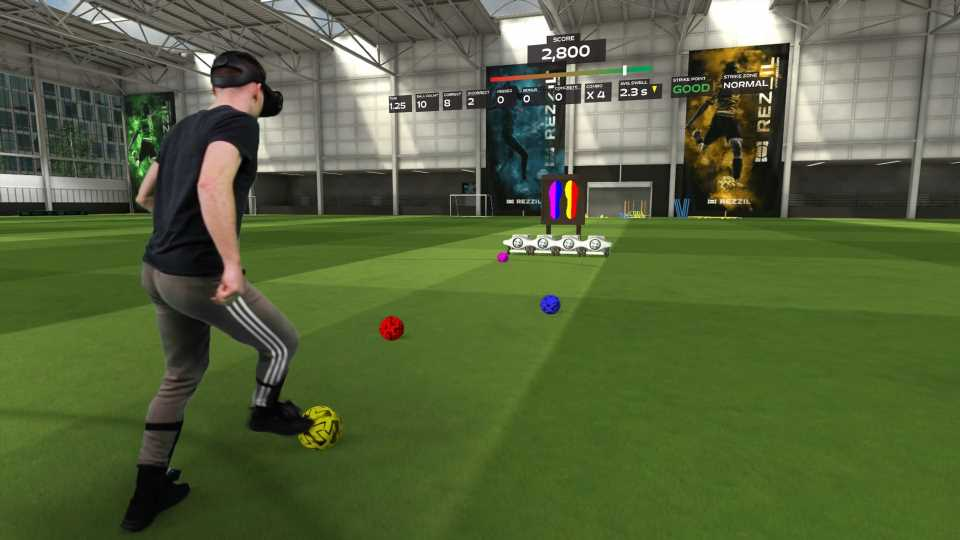 Realistic Soccer Training App Rezzil Launches On SteamVR