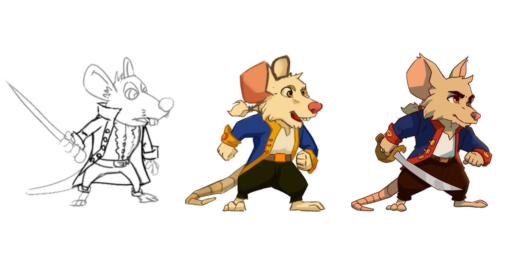 """Check Out The Concept Art For Hand-Drawn """"Ratoidvania"""" Curse Of The Sea Rats"""
