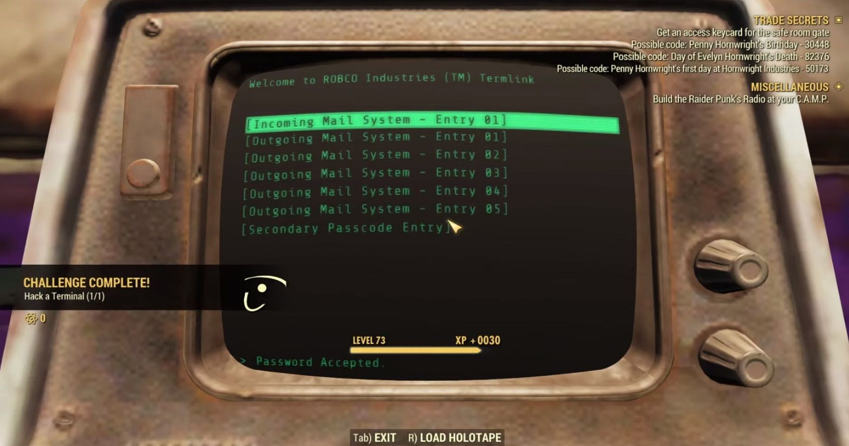 Fallout 76: Find All Keycard Clues In Trade Secrets