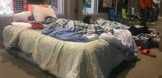 PS5 Fans Bring Their Beds To GameStop And Skip Thanksgiving To Snag A Console