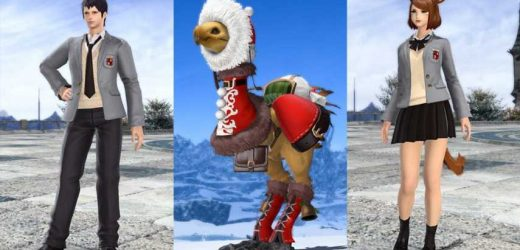 FF14 Store Has Added College Uniforms & Santa Barding For Chocobos