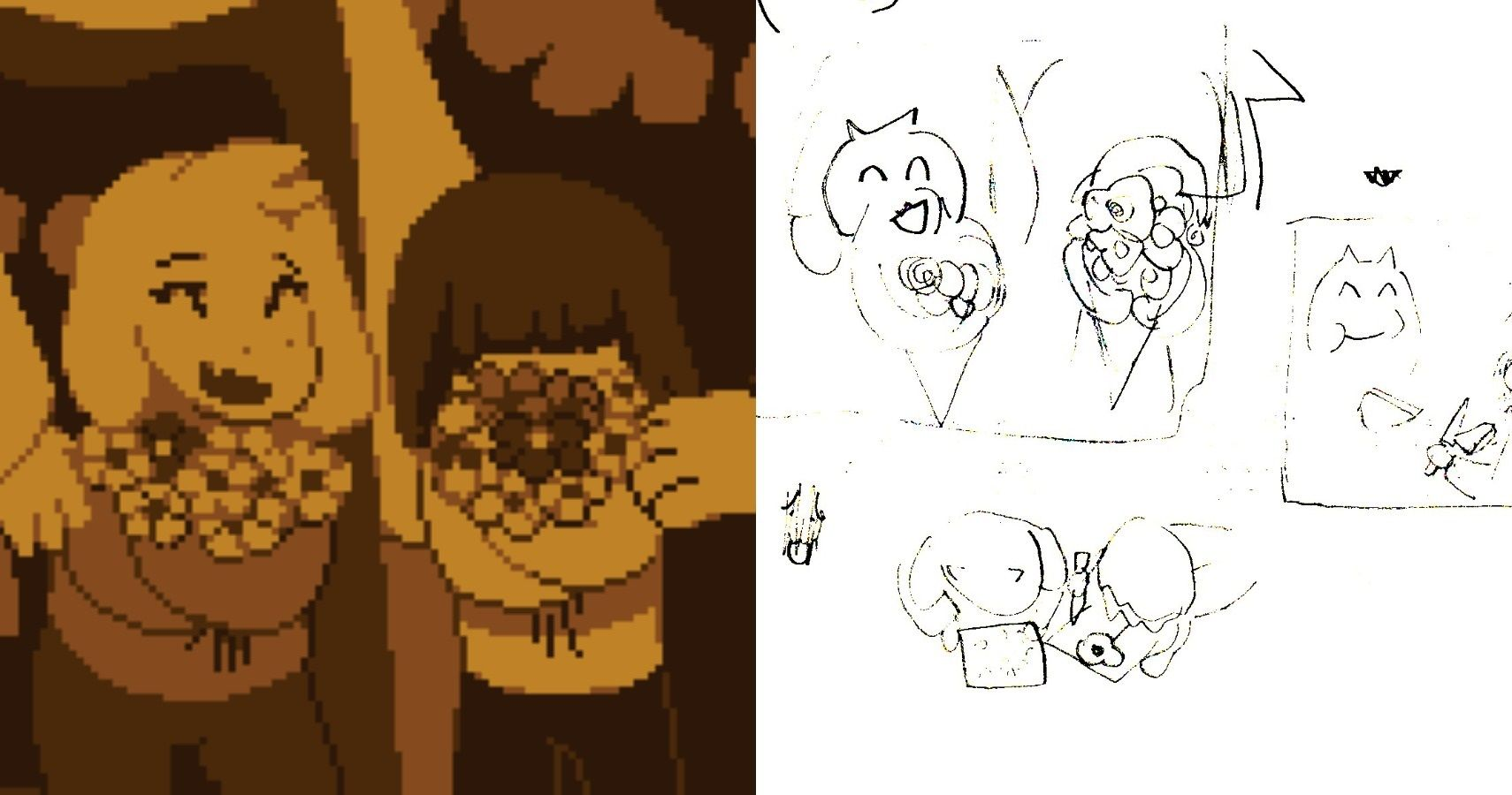 Toby Fox Reveals Concept Art Of Cut Scenes From Undertale