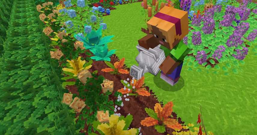 New Minecraft Mod Lets You Grow A Pretty Garden