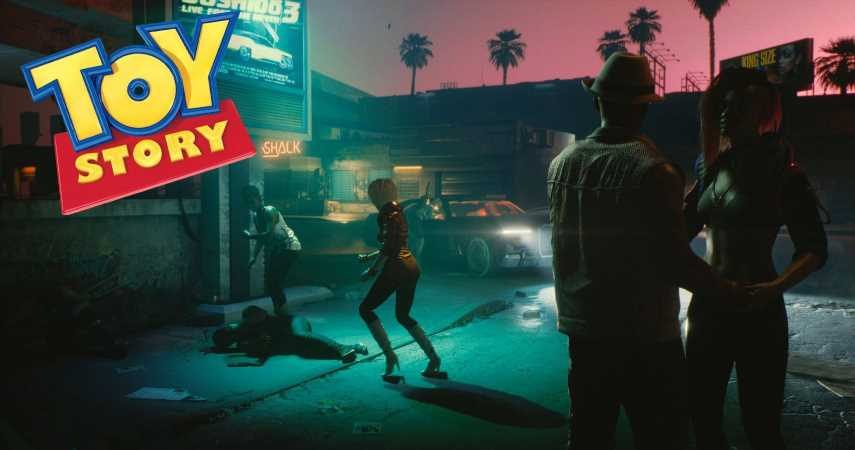 V's Running Animation In Cyberpunk 2077 Looks A Whole Lot Like Woody From Toy Story