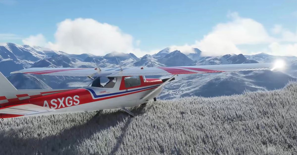 Microsoft Flight Simulator's real-time snow looks magical
