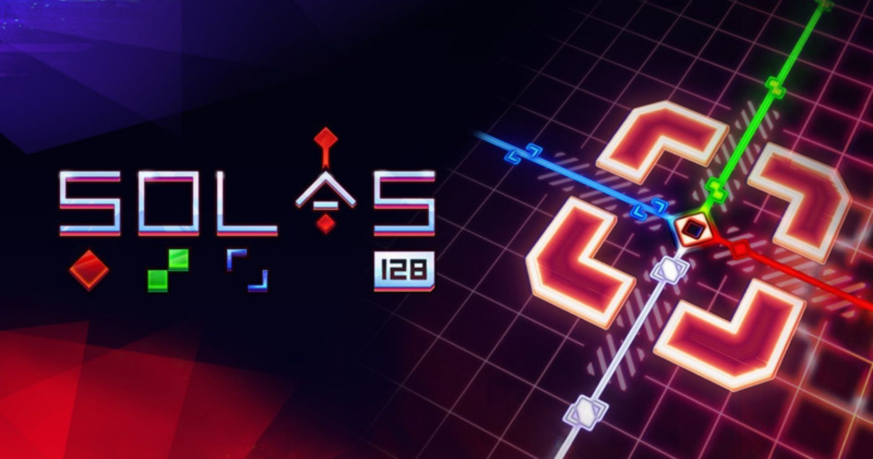 Kaleidoscopic Synthwave Puzzler SOLAS 128 Launches Later This Month