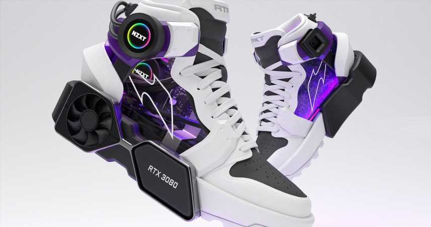 High-Tech Shoes Are Secretly An RTX 3080-Powered Gaming PC