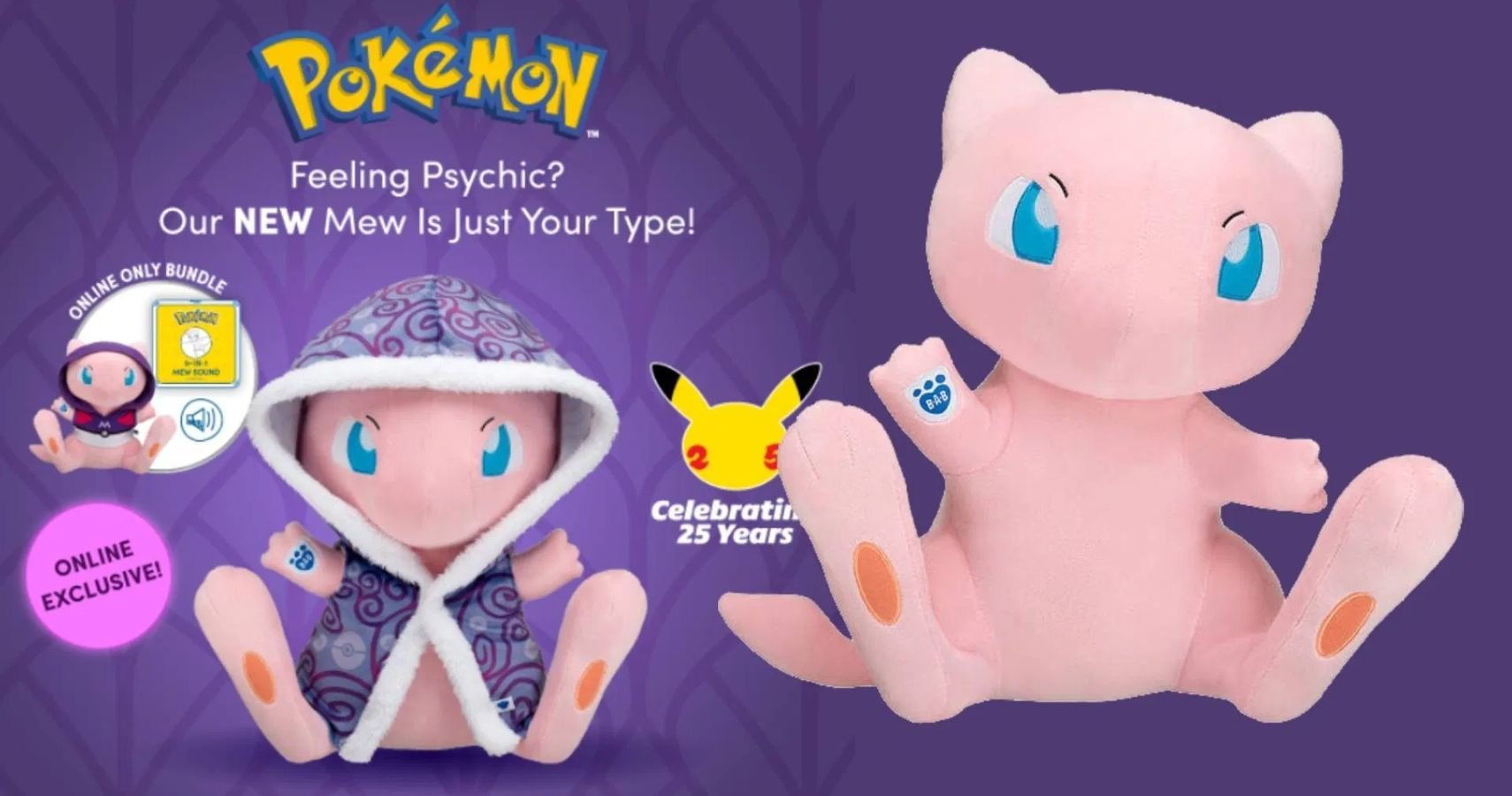 Adorable Mew Build-A-Bear Plushie Now Available Online
