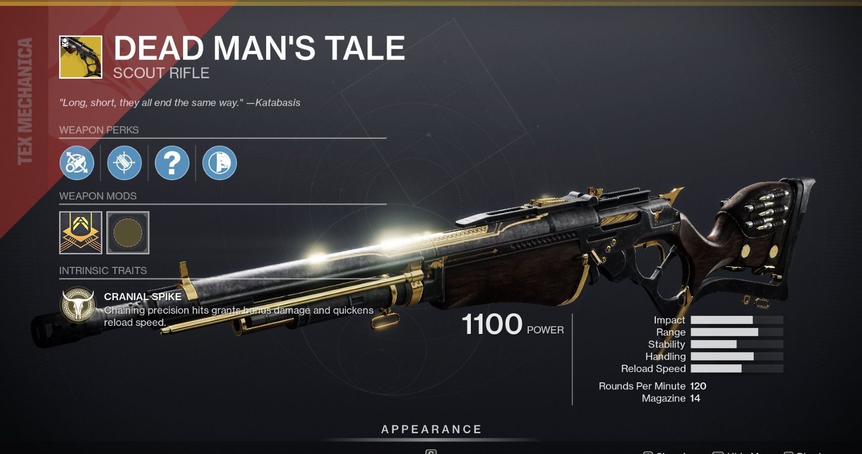 Destiny 2's Latest Exotic Scout Rifle Quest Is Live, Will Have Random Rolls