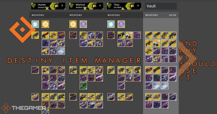Destiny 2: Destiny Item Manager And Why You Should Use It