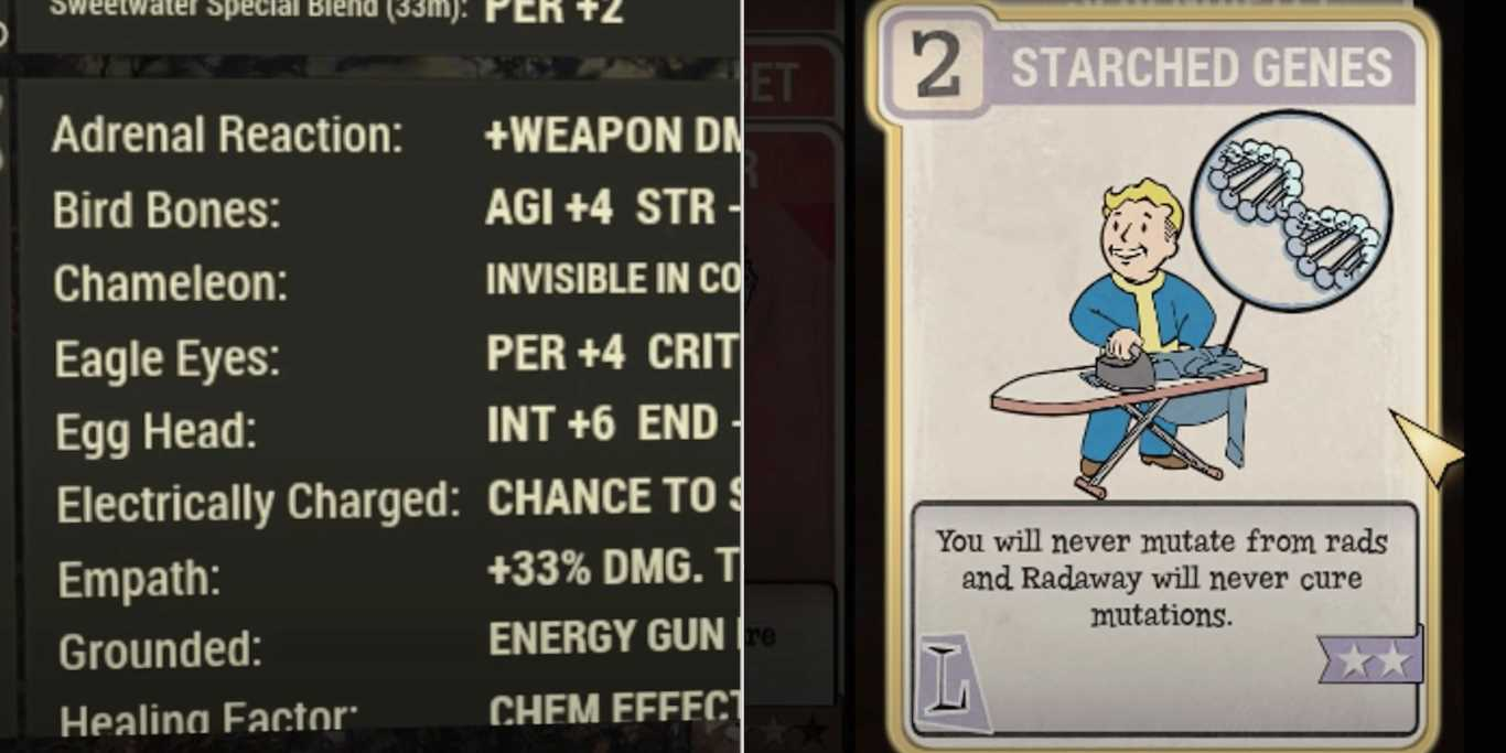 Fallout 76: Complete Guide To Mutations