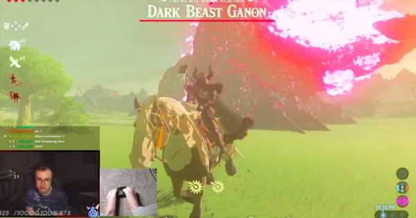 Breath of the Wild fan beats all dungeons with his feet
