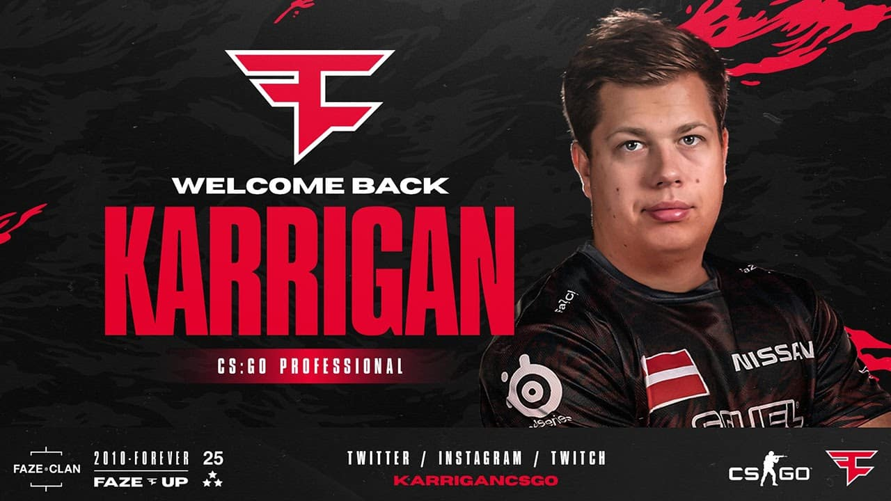 CS:GO: Karrigan Announces Return To FaZe Clan