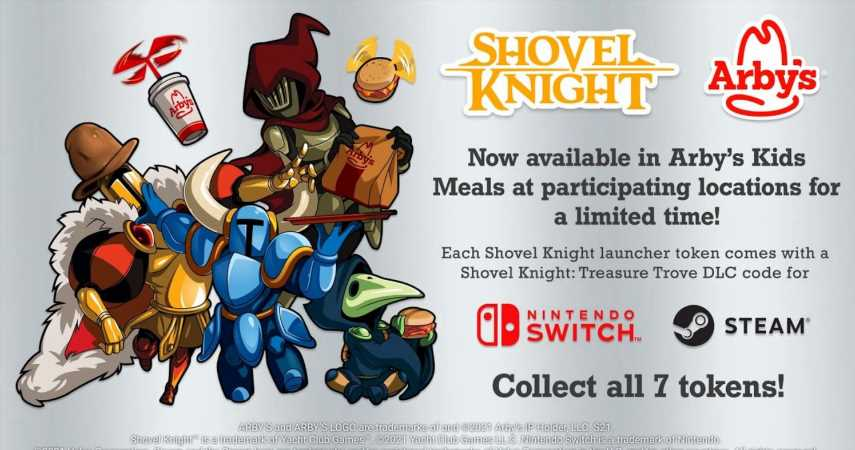 Shovel Knight Teams Up With Arby's In Kids Meals
