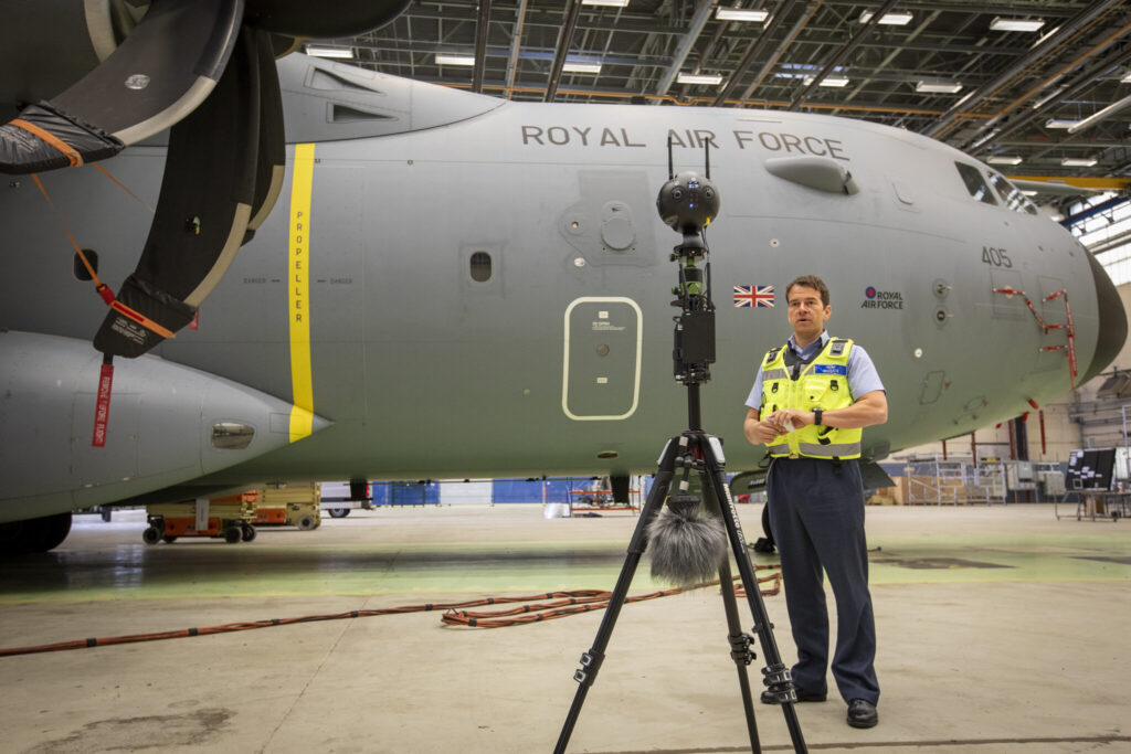 Step Into the Cavernous C-17 With the RAF's Latest 360 Video