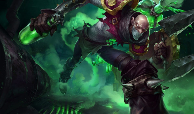 Singed player stops Baron and snags 1-vs-5 pentakill in League of Legends