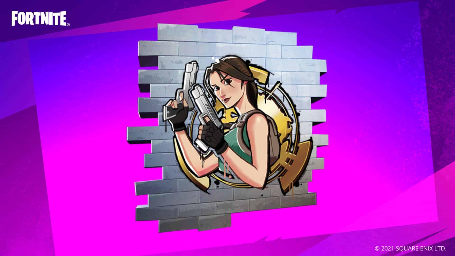 Fortnite: How To Get Free Lara Croft Manor Experience Spray